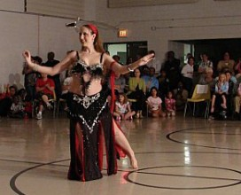 Sumaya performing at Aziza's School of Middle Eastern Belly Dance